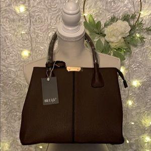 B&E Brown Handbag w/ Strap New in Box